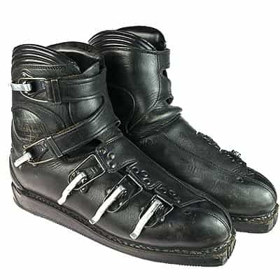 1960s Koflach Leather Buckle Ski Boots