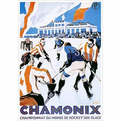 Chamonix Hockey Greeting Card