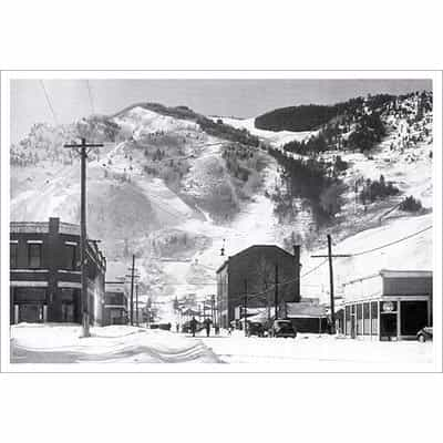 Aspen Mill & Main St. Greeting Card