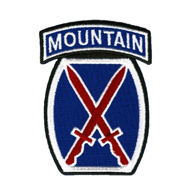 10th Mountain Division Logo Patch