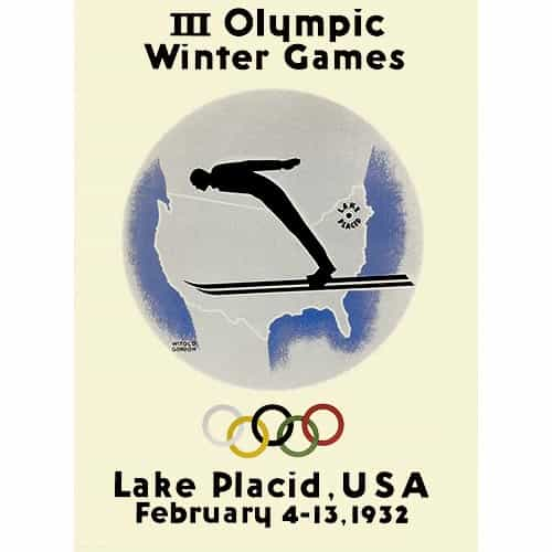 1932 Lake Placid Winter Olympics Poster