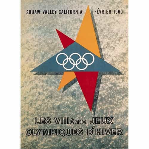 1960 Squaw Valley Winter Olympics Poster