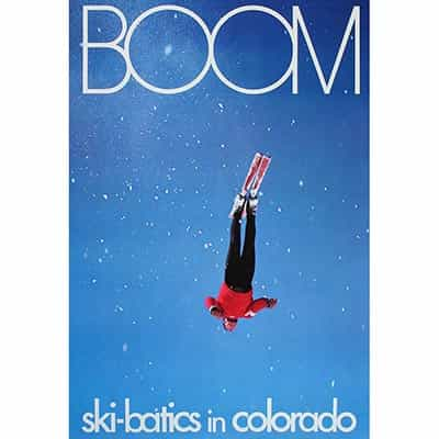 Boom Original Ski Poster, Ski-batics in Colorado
