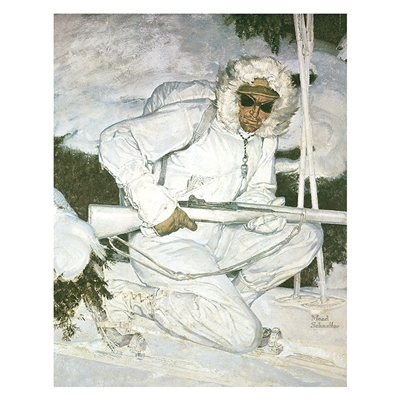 10th Mtn. Division Soldier in Winter Poster