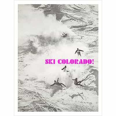 Bell Mountain Bash In Aspen CO Ski Poster, Size 22 x 28 inches