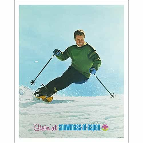 Stein Eriksen at Snowmass in 1967 Ski Poster, 2 sizes 18 x 24 & 22 x 28 inches.