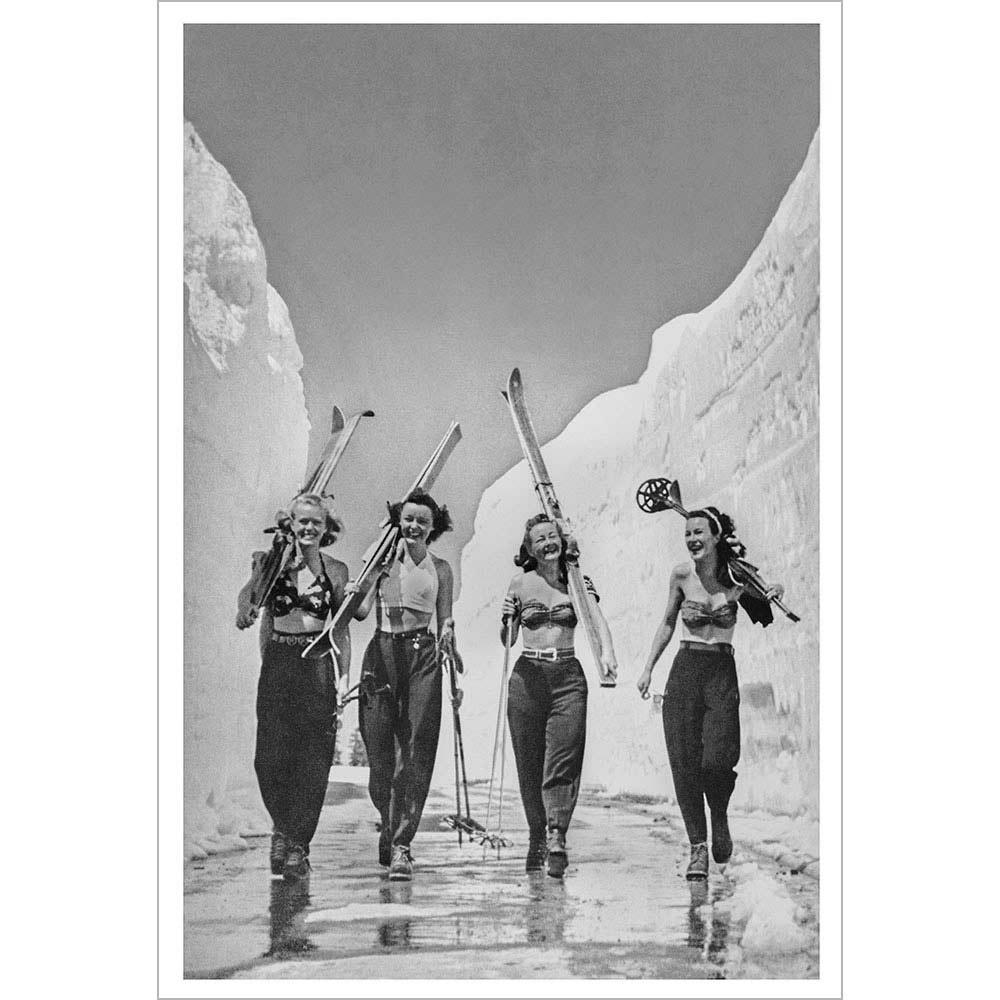 Girls Gone Skiing 1940s Ski Photo