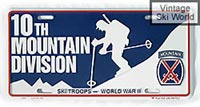 10th Mountain Division License Plate