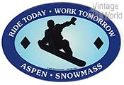 Ride Today Aspen Snowmass Magnet