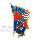 10th Mountain Division Crossed Flags Pin