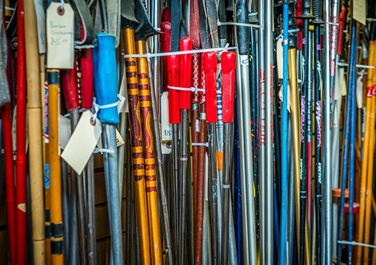 SHOP vintage & antique ski poles