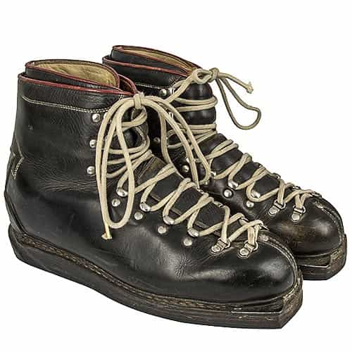 quality design b6d8d c07df 1960's Rieker Vintage Leather Double Lace Ski Boots