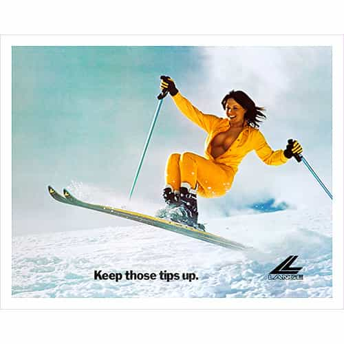 Cross Country Skis For Sale >> Lange Classic Tips Up Vintage Ski Poster