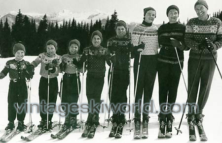 Allen family ski photo -- note the classic sweaters!
