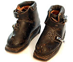 Antique children's leather ski boots.