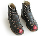 Le Trappeur antique vintage leather ski boots.