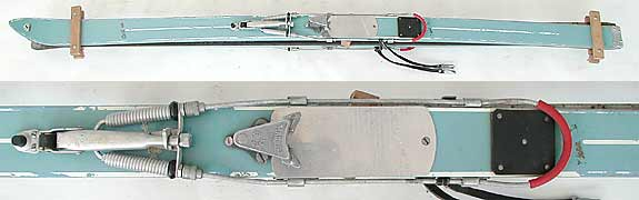 Blue Cortina vintage skis.